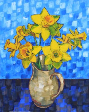 Daffodils after Still Life Vase with Fourteen Sunflowers