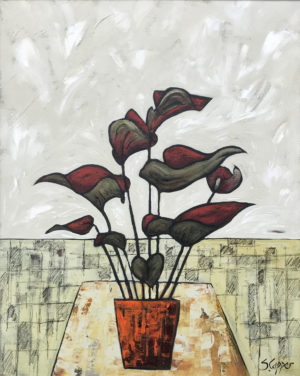 Red plant 20x16in