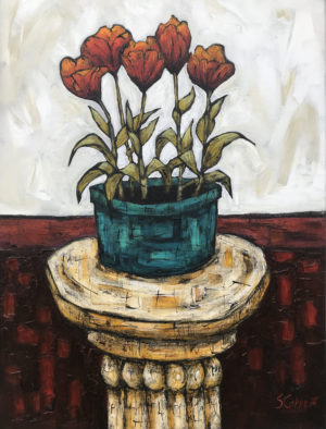 Still Life with Tulips 24x18in