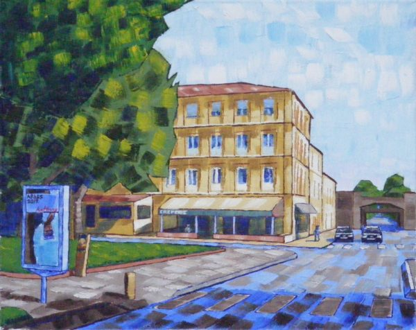 Vincent's House in Arles (The Yellow House) 2017 by Anthony D. Padgett (after Van Gogh Arles 1888)