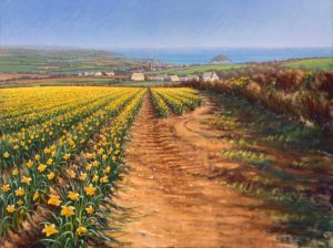 Lionel Aggett Springtime in Cornwall Coastal Landscape