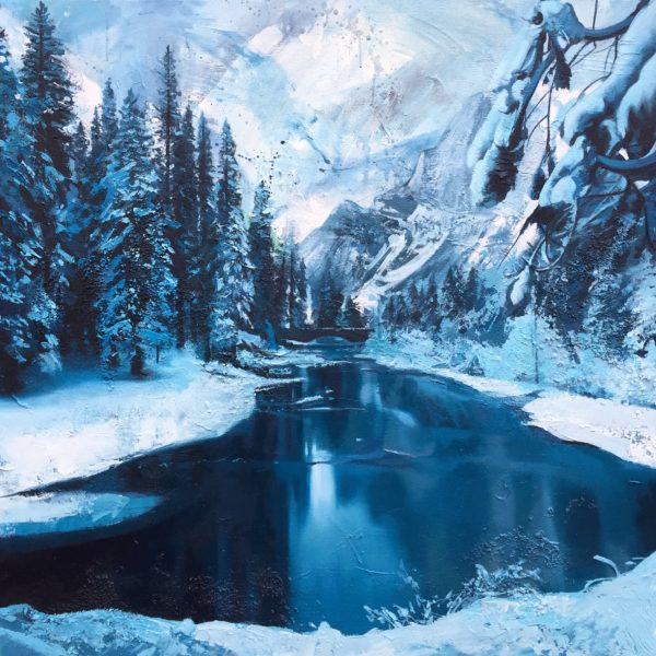 Ice River Painting