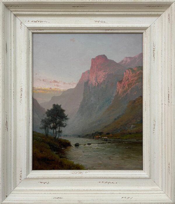 Mountain Landscape Painting of Ben Venue in the Scottish Highlands by 19th Century British Artist, Alfred De Breanski Snr, (1852 - 1928)