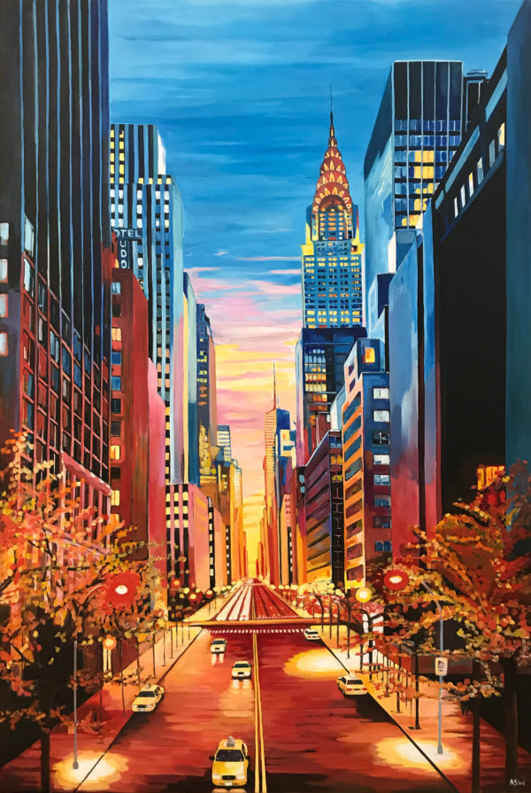 New York Chrysler Building 42nd Street by Angela Wakefield