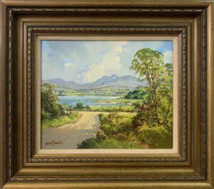 Oil Painting of Lough Island in County Down Ireland by Modern Irish Artist