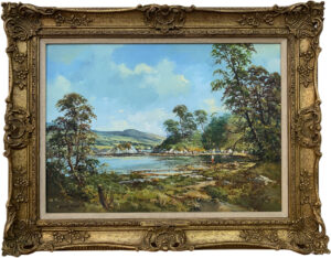 Original Post-War Oil Painting of Mulroy Bay Donegal Ireland by Irish Artist