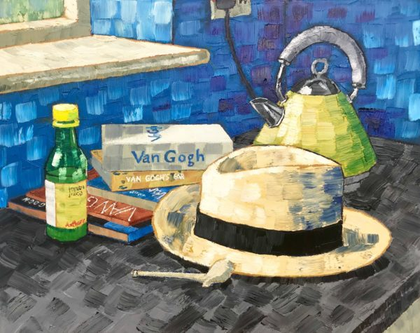 Still Life with Yellow Straw Hat (after Van Gogh Nuenen 1885)