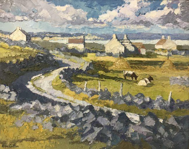 Alan Cotton(1938- ) Connemara, 'The Road Round the Bay', Ireland