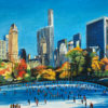 Central Park Skaters in New York City by Angela Wakefield