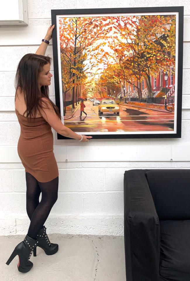 Angela Wakefield New York Autumn Original Painting
