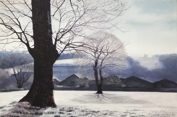 Painting of Winter Landscape