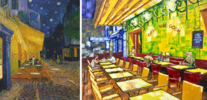 The Cafe Terrace on the Place du Forum, Arles, at Night by Van G