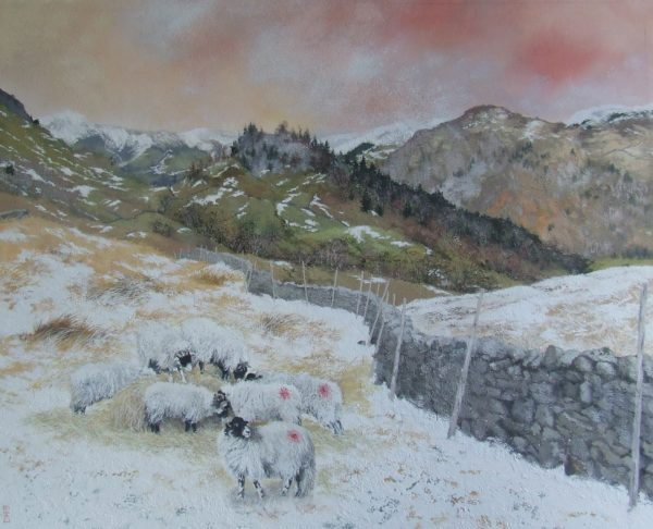 Castle Cragg, Lake District - original painting by David Sims