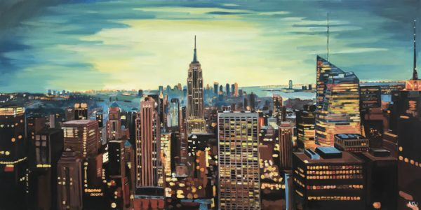 Empire State Building Cityscape by Angela Wakefield