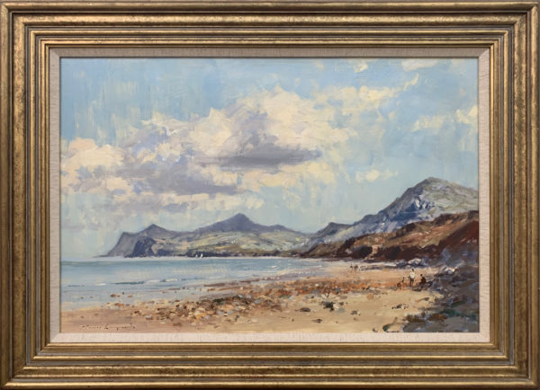 Landscape Seascape Painting of Coast from Nefyn in North Wales