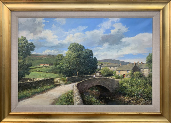 Original Oil Painting of Thwaite Village Yorkshire Dales
