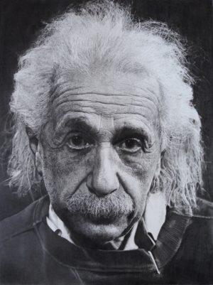 Einstein Pencil Drawing
