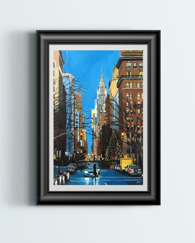 Christmas in New York Print