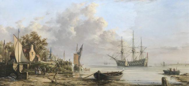 J L Chapman 19th Century Dutch Coastal Scene Circa 1820