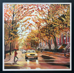 Painting of New York Autumn, Greenwich Village by Angela Wakefield