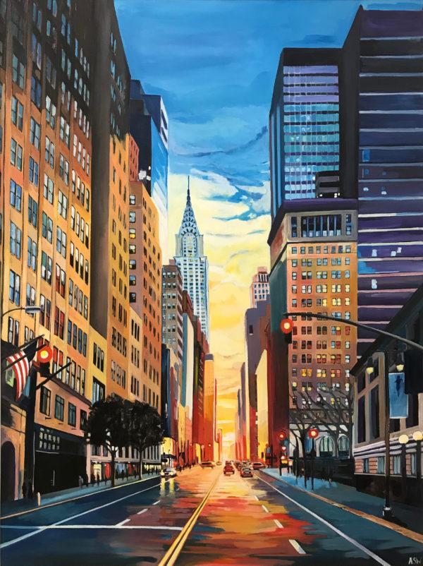 New York 42nd Street Cityscape