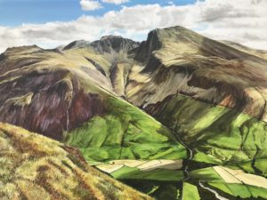 Painting of Scafell Lake District