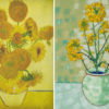 Rapeseed Still Life Vase with Fourteen Sunflowers 2017 by Anthony D. Padgett (after Van Gogh Arles 1888)