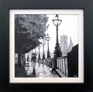 Painting of London Victoria Embankment by Angela Wakefield